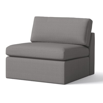 Marfa Armless Chair Body Fabric: Klein Dolphin