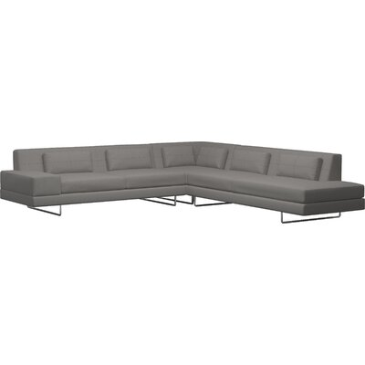 Hamlin Sectional Body Fabric: Klein Charcoal, Sectional Orientation: Right Facing