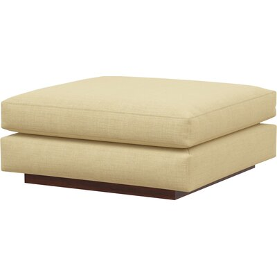 Jackson Ottoman Body Fabric: Marlow Tumbleweed, Frame Finish: Walnut