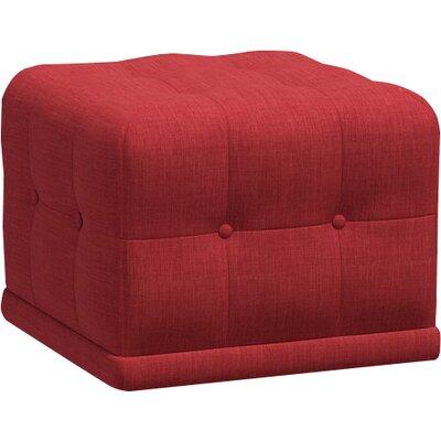 Bump Bump Cube Ottoman Body Fabric: Marlow Red