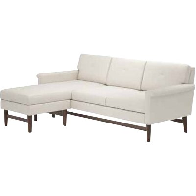 Diggity Sectional Body Fabric: Klein Ivory, Leg Finish: Natural Honey Alder