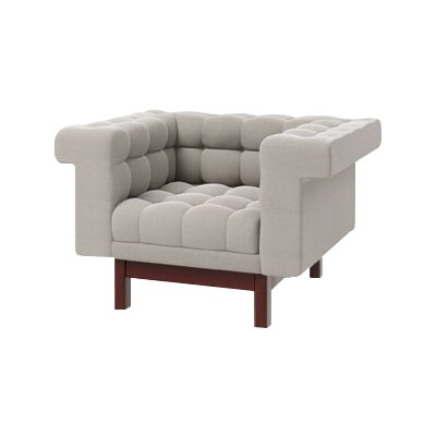 George Armchair Body Fabric: Klein Dove, Leg Finish: Walnut