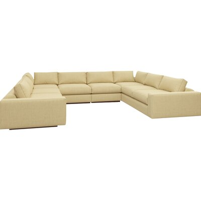 Jackson Sectional Body Fabric: Marlow Tumbleweed, Frame Finish: Walnut