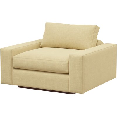 Jackson Armchair Body Fabric: Marlow Tumbleweed, Frame Finish: Natural Honey