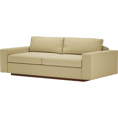 Jackson 80 Condo Sofa Body Fabric: Marlow Tumbleweed, Frame Finish: Natural Honey Alder