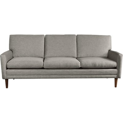 Circa Standard Sofa Body Fabric: Marlow Charcoal, Leg Finish: Walnut
