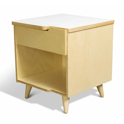 11 Ply 1 Drawer Nightstand Finish White