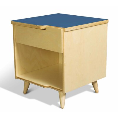 11 Ply 1 Drawer Nightstand Finish Blue