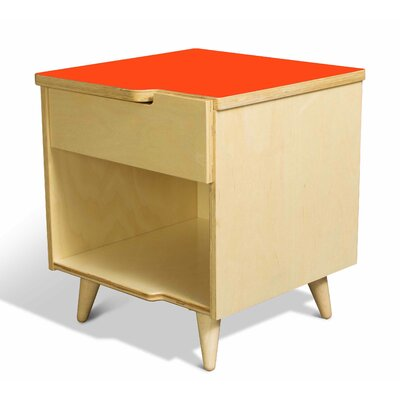 11 Ply 1 Drawer Nightstand Finish Orange