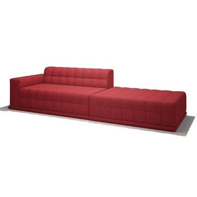 Bump Bump One Arm Sofa with Chaise Body Fabric: Marlow Tumbleweed, Sectional Orientation: Left Hand Facing