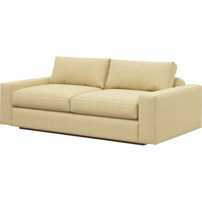 Jackson 70 Loveseat Body Fabric: Marlow Tumbleweed, Frame Finish: Natural Honey Alder