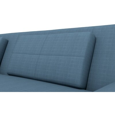 Hamlin One Arm Sofa with Chaise Body Fabric: Klein Azure, Sectional Orientation: Left Hand Facing