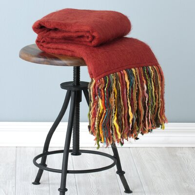 Fab Throw Blanket Color: Red