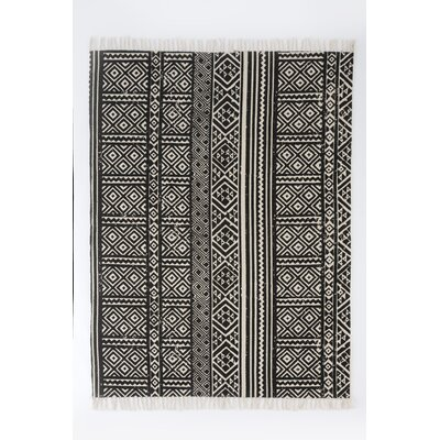 Basant Black Area Rug