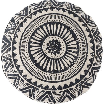 Basant Cotton Throw Pillow Color: Black