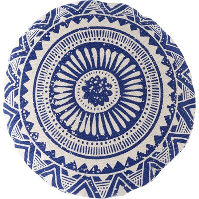 Basant Cotton Throw Pillow Color: Blue