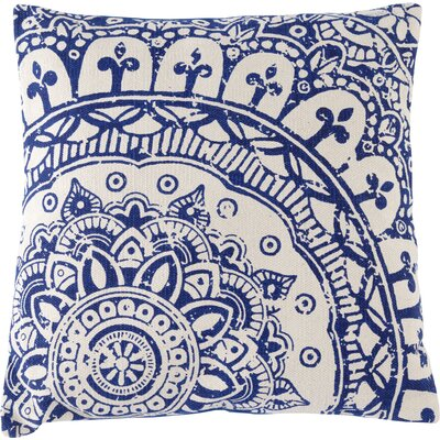 Basant Cotton Floor Pillow Color: Blue