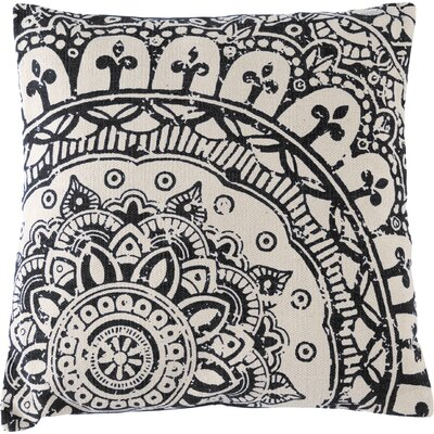Basant Cotton Floor Pillow Color: Black