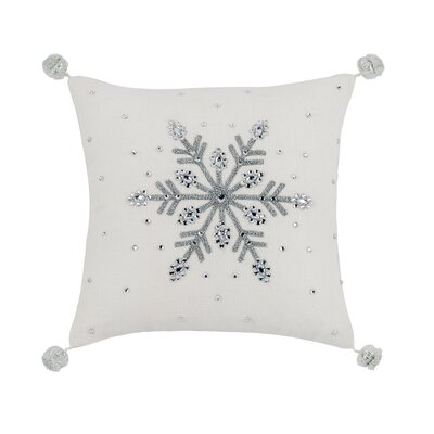 Bayles Snowflake Mini Throw Pillow