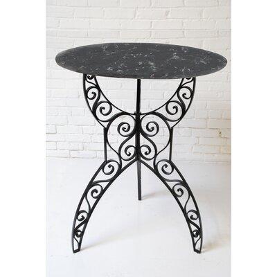 Artesano Home Decor Tuscan Pub Table - Top Finish: Black Marble, Base Finish: Black, Size: 32