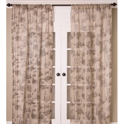 India's Heritage Curtain Panel - Color: Natural, Size: 108