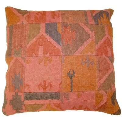 Dyed Patchwork Throw Pillow