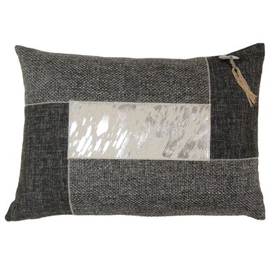 Foiled Hairon Leather Lumbar Pillow