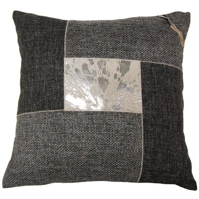 Foiled Hairon Leather Throw Pillow