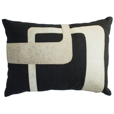 Hairon Leather Lumbar Pillow