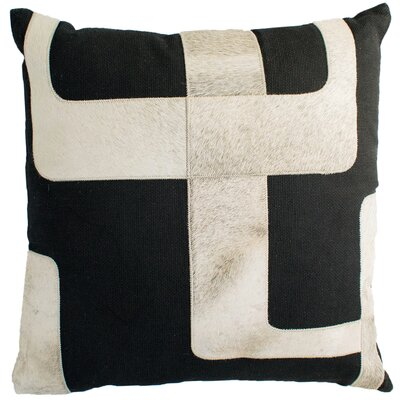 Hairon Leather Throw Pillow