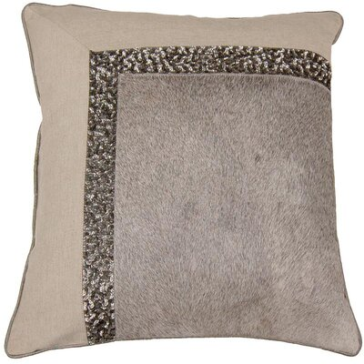 Hand Embroidery Hairon Leather Throw Pillow