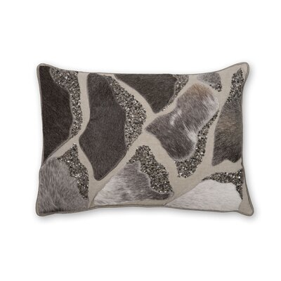 Laser Cut Hairon Leather Lumbar Pillow