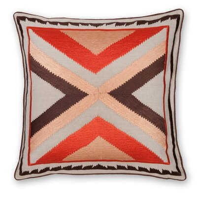 Arrow Embroidery Linen Throw Pillow