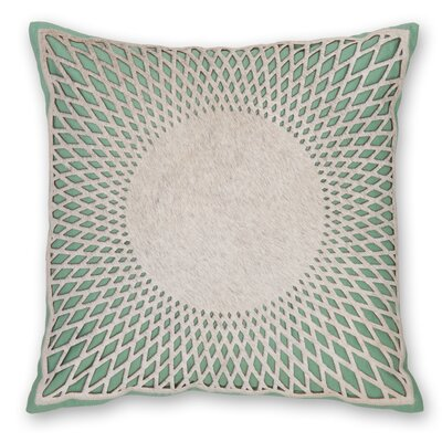 Aurora Linen Throw Pillow Color: Turquoise