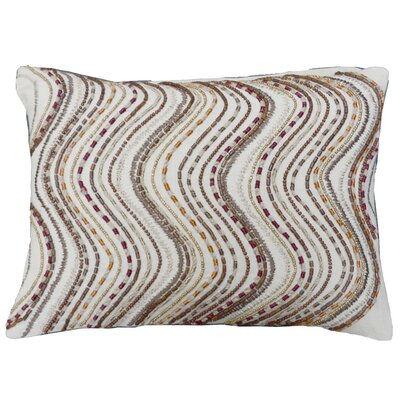 Wavy Beadwork Lumbar Pillow