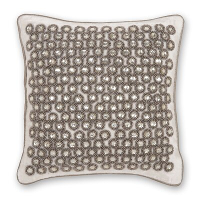 Sterling Velvet Crystals Throw Pillow Color: White