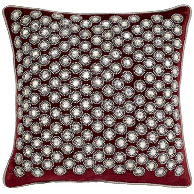 Sterling Velvet Crystals Throw Pillow Color: Red