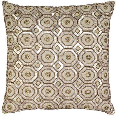 Honeycomb Sequins Linen Throw Pillow