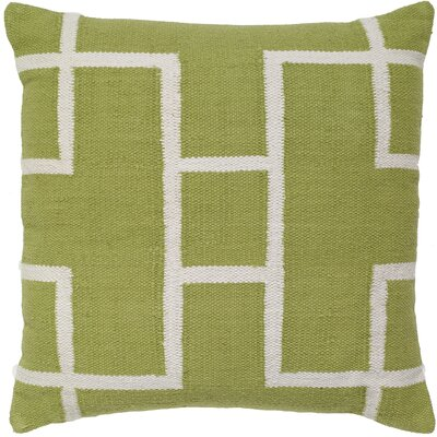 Cotton Woven Throw Pillow Color: Light Green