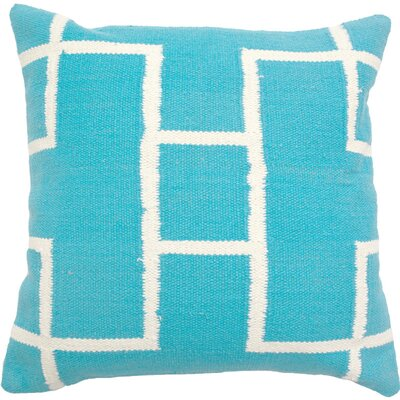 Cotton Woven Throw Pillow Color: Turquoise C935