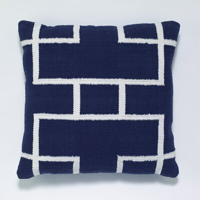 Cotton Woven Throw Pillow Color: Blue