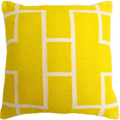 Cotton Woven Throw Pillow Color: Yellow