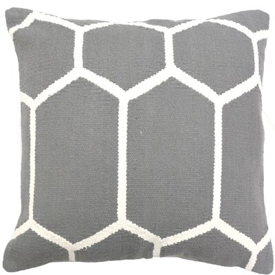 Cotton Woven Throw Pillow Color: Gray