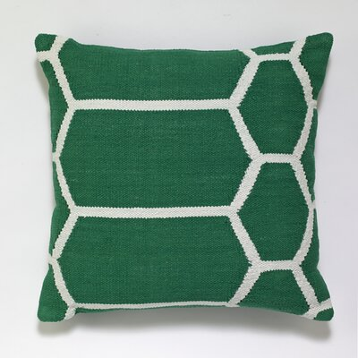Cotton Woven Throw Pillow Color: Dark Green