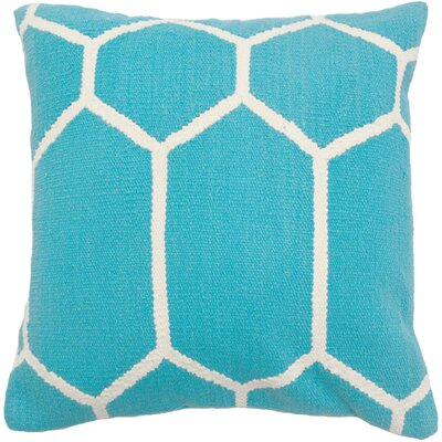 Cotton Woven Throw Pillow Color: Turquoise