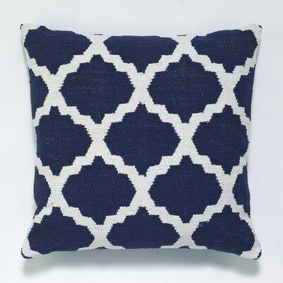 Cotton Woven Throw Pillow Color: Blue