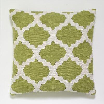 Cotton Woven Throw Pillow Color: Light Green