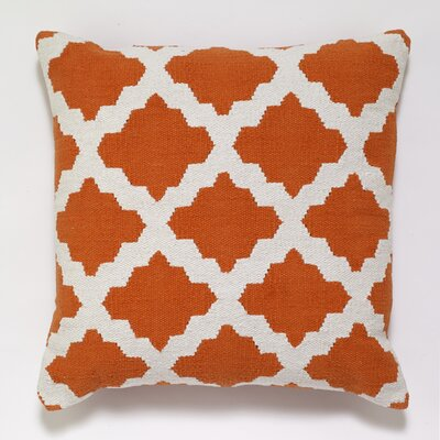 Cotton Woven Throw Pillow Color: Orange