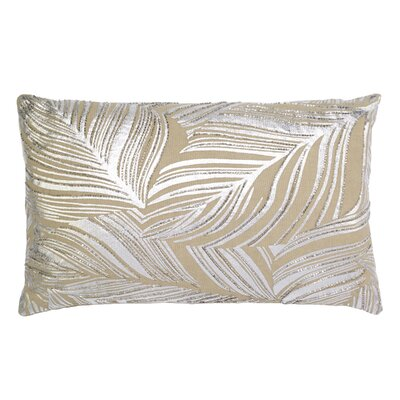 Leaf Embroidery Lumbar Pillow