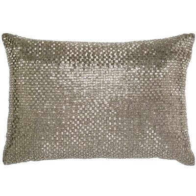 Beadwork Lumbar Pillow Color: Silver